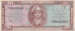 Ref. 1657-2080 - BIN UNITED STATES . 1946. USA UNITED STATES 20 DOLLAR 1946 MILITARY PAYMENT CERTIFICATE NOTE - Certificati Di Pagamenti Militari (1946-1973)