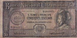 Ref. 1589-2011 - BIN SAO TOME AND PRINCIPE Islands . 1958. SANTO TOME 50 ESCUDOS 1958 - Sao Tomé Et Principe