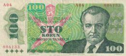 Ref. 1502-1924 - BIN CZECHOSLOVAKIA . 1989. CZECHOSLOVAKIA 100 KORUN;1989 P-97 UNC - Checoslovaquia
