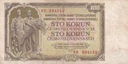 Ref. 1492-1914 - BIN CZECHOSLOVAKIA . 1953. 100 CZECHOSLOVAK KORUN BANKNOTE 1953 - Checoslovaquia