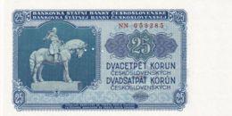 Ref. 1490-1912 - BIN CZECHOSLOVAKIA . 1953. 25 CZECHOSLOVAK KORUN BANKNOTE 1953 - Checoslovaquia