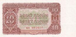 Ref. 1489-1911 - BIN CZECHOSLOVAKIA . 1953. 10 CZECHOSLOVAK KORUN BANKNOTE 1953 - Checoslovaquia