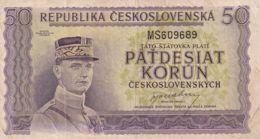 Ref. 1473-1895 - BIN CZECHOSLOVAKIA . 1945. CZECHOSLOVAKIA 50 KORUN 1945 - Czechoslovakia