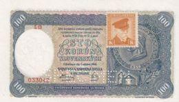 Ref. 1465-1887 - BIN CZECHOSLOVAKIA . 1940. CZECHOSLOVAKIA 100 KORUN 1940 SPECIMEN - Czechoslovakia