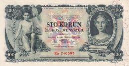 Ref. 1452-1874 - BIN CZECHOSLOVAKIA . 1931. CZECHOSLOVAKIA 100 KORUN 1929 PICK 24 SPECIMEN - Czechoslovakia