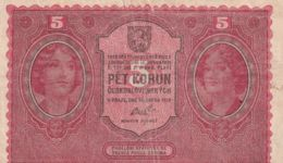 Ref. 1449-1871 - BIN CZECHOSLOVAKIA . 1919. CZECHOSLOVAKIA 5 KORUN 1919 - Czechoslovakia