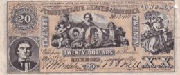 Ref. 1435-1857 - BIN UNITED STATES . 1861. CONFEDERATE STATES OF AMERICA 20 DOLLARS 1861 - Valuta Van De Bondsstaat (1861-1864)