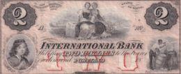 Ref. 1425-1847 - BIN UNITED STATES . 1860. $2 DOLLARS 1850'S INTERNATIONAL BANK  PORTLAND MAINE - Verenigde Staten