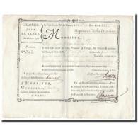 France, Traite, Colonies, Isle De France, 4422 Livres, Dépenses De La Marine - ...-1889 Francs Im 19. Jh.