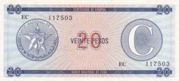 Ref. 1351-1773 - BIN CUBA . 2020. CUBA 20 PESOS 1985 CERTIFICADO DE COMPRA - Cuba