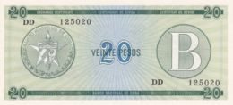 Ref. 1345-1767 - BIN CUBA . 1985. CUBA 20 PESOS 1985 CERTIFICADO DE COMPRA - Cuba
