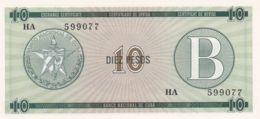 Ref. 1344-1766 - BIN CUBA . 1985. CUBA 10 PESOS 1985 CERTIFICADO DE COMPRA - Cuba