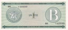 Ref. 1342-1764 - BIN CUBA . 1985. CUBA 1 PESO 1985 CERTIFICADO DE COMPRA - Cuba