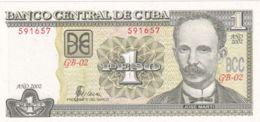 Ref. 1313-1735 - BIN CUBA . 2002. CUBA 1 PESOS 2002 - Cuba