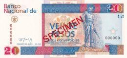 Ref. 1303-1725 - BIN CUBA . 1994. CUBA 20 PESOS CONVERTIBLES 1994 SPECIMEN - Cuba