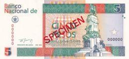 Ref. 1301-1723 - BIN CUBA . 1994. CUBA 5 PESOS CONVERTIBLES 1994 SPECIMEN - Cuba