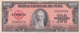 Ref. 1220-1642 - BIN CUBA . 1959. CUBA 100 PESOS 1959 AGUILERA - Cuba