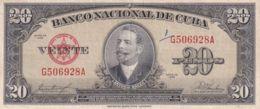 Ref. 1214-1636 - BIN CUBA . 1958. CUBA 20 PESOS 1958 ANTONIO MACEO - Cuba
