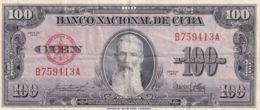 Ref. 1212-1634 - BIN CUBA . 1954. CUBA 100 PESOS 1954 - Cuba