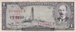 Ref. 1211-1633 - BIN CUBA . 1957. CUBA 1 PESO 1957 JOSE MARTI - Cuba
