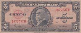 Ref. 1202-1624 - BIN CUBA . 1950. CUBA 5 PESOS 1950 MAXIMO GOMEZ - Cuba