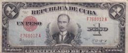 Ref. 1192-1614 - BIN CUBA . 1943. CUBA 1 PESO 1943 - Cuba