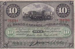 Ref. 1189-1611 - BIN CUBA . 1896. CUBA 10  PESOS 1896 - Cuba