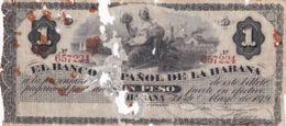 Ref. 1180-1602 - BIN CUBA . 1879. CUBA 1 PESO 1879 - Cuba