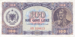 Ref. 970-1392 - BIN ALBANIA . 1947. ALBANIA SHQIPTAR 100 LEKE 1947 - Albanien