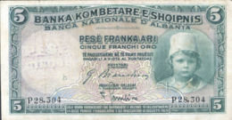 Ref. 961-1383 - BIN ALBANIA . 1924. ALBANIA SHQIPERISE 5 FRANCHI 1924 OCUPACION ITALIANA - Albania
