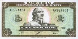 Ref. 655-1055 - BIN HAITI . 1992. 1 GOURDE HAITI 1992. 1 GOURDE HAITI 1992 - Haiti