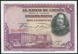 Ref. 407-709 - BIN SPAIN . 1928. 50 PESETAS 1928 VELAZQUEZ.. 50 PESETAS 1928 VELAZQUEZ. - [ 1] …-1931 : Premiers Billets (Banco De España)