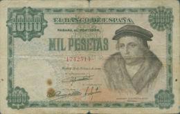 Ref. 93-697 - BIN SPAIN . 1946. 1000 Pesetas Luis Vives . 1000 Pesetas Luis Vives - [ 3] 1936-1975 : Régimen De Franco