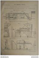 1900 MACHINES HYDRAULIQUES POUR LE CHARGEMENT ET LE DECHARGEMENT DES CORNUES A GAZ - Obras Públicas