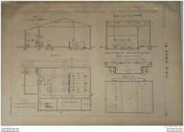 1900 USINE POUR LA FABRICATION DES AGLOMERES SILICO CALCAIRES A COSWING ( ALLEMAGNE ) - Obras Públicas
