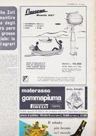 (pagine-pages)PUBBLICITA' PIAGGIO MOSCONE   L'europeo1957/606. - Libros, Revistas, Cómics