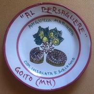 Piatto Buon Ricordo - Goito - Al Bersagliere - Anguilla Marinata - R93 - Pres? - Obj. 'Souvenir De'