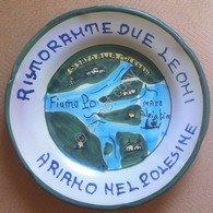 Piatto Buon Ricordo - Ariano Polesine - Due Leoni - Bisato Alla Polesana - 11G - Obj. 'Souvenir De'