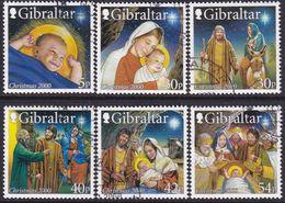 GIBRALTAR 2000 SG #950-55 Compl.set Used Christmas - Gibilterra