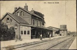 Cp Ham Somme, Gare, Bahnhof, Gleisseite, Bahnsteig - Autres Communes