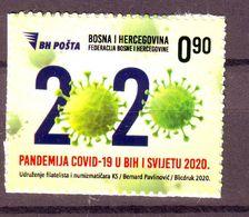 Bosnia BiH COVID 19 CORONAVIRUS Pandemie Self - Adhesive MNH - Bosnie-Herzegovine