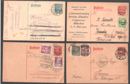Germania Reich 34 Postal Various Documents VF/F - Cartas