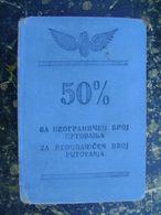 France!!??-Jugoslavija-Serbia-1937-41   (4201) - Week-en Maandabonnementen