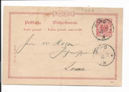 Deutsche Kolonien Togo Vorläufer VP 25/02 - 10 Pf. Adler DD 396 F  Von Bopo Nach Lome Bedarfsverw. - Colonie: Togo