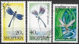 In70  Dragonflies 3 Stamps Used-oblit. - Autres