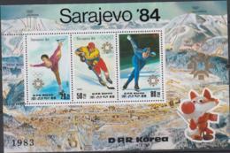 KOREA  NORTH - 1984 - SAREJEVO OLYMPICS SHEETLET OF 3 MINT NEVER HINGED - Corea Del Nord