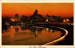 Minnesota St Paul Skyline At Night 1965 - St Paul