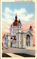 Minnesota St Paul The St Paul Cathedral 1944 Curteich - St Paul