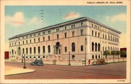 Minnesota St Paul Public Library 1949 Curteich - St Paul