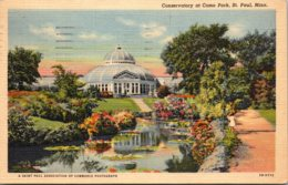 Minnesota St Paul Como Park Conservatory 1950 Curteich - St Paul
